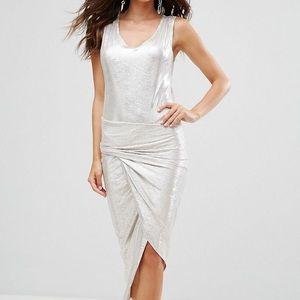 Metallic Twisted Dress Holiday Dress